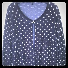 Ann Taylor cardigan Beautiful, well made polka dot cardigan. Awesome for work or play.. Ann Taylor Sweaters Cardigans