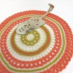 Crochet mandala doily in bohemian style, Living room decor for table, Modern crochet centerpiece, Round table toppers, Bỉthday gifts for mom Crochet Mandala, Crochet Doilies, Little Gifts, Gifts For Mom, Doilies For Sale, Cable And Cotton, Modern Crochet, Flower Applique, Handmade Decorations