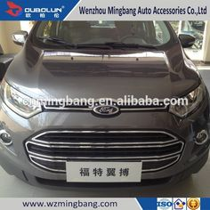 Car Decoration Chrome Accessories Body Kits Front Bumper Grille For Ford Ecosport