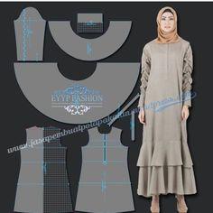 45 ideas for fashion hijab rok motif Dress Sewing Patterns, Sewing Patterns Free, Free Pattern, Sewing Clothes Women, Clothes For Women, Diy Bags No Sew, Abaya Pattern, Modele Hijab, Muslim Dress