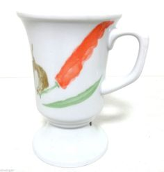 "Elegant Hutschenreuther 1814 Germany Porcelain Goblet with Handle, Stands 4 7/8"""
