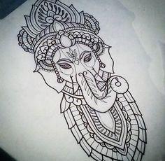 Ganesha, Henna, Piercings, Paintings, Tattoos, Artwork, Peircings, Piercing, Tatuajes