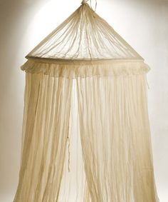 White Cotton Bed Canopy