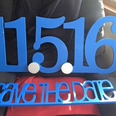 Another satisfied customer of Z Create Design | We can't wait to see this Save the Date photo with such vibrant signs!