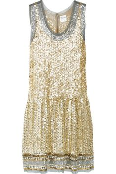 Change into this fun and flirty mini for a touch of #bling at the reception!