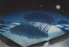 In the Deep Mid-winter, Morna Rhys, etching