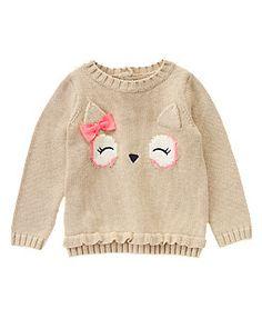 Owl Face Sweater