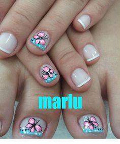 Short Nail Designs, Toe Nail Designs, Manicure Y Pedicure, Nail Shop, Short Nails, Toe Nails, Summer Nails, Nail Art, Makeup