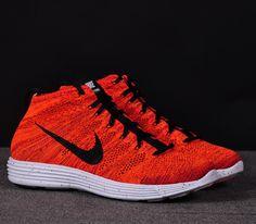 Nike Lunar Flyknit Chukka–Bright Crimson-Black-Total Orange-White