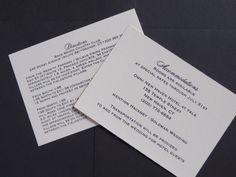 Ivory accommodations and direction card. Invitationsbymarcy.com Bar Mitzvah Invitations, Wedding Invitations, Addressing Envelopes, Bat Mitzvah, Letterpress, Stationery, Ivory, Cards Against Humanity, Letterpress Printing