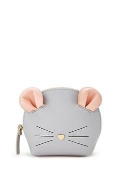 Mouse Face Makeup Bag - À la mode - Cheap Handbags, Luxury Handbags, Purses And Handbags, Popular Handbags, Prada Purses, Fabric Handbags, Hobo Handbags, Shop Forever, Forever 21
