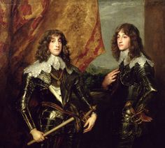 Prince Charles Louis Elector Palatine and his Brother, Prince Rupert of the Palatinate. (sons of Frederick V, Elector Palatine)    Sir Anthony Van Dyck (1599 - 1641)       Location: Louvre, Paris