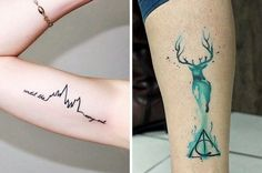 "39 Gorgeous Harry Potter Tattoos That Will Make You Say ""I Want That"" ( quibbler glasses on finger )"