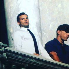 Jamie on the set in Paris (July 18, 2016) 😍 Pic credit to owner #jamiedornan #christiangrey #fiftyshades #fiftyshadesdarker #fiftyshadesfreed #fiftyshadesofgrey #fiftyshadestrilogy #paris #france #ameliawarner #dakotajohnson