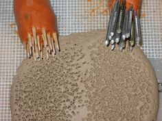 texture tools...tooth picks and nails
