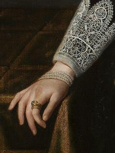Paulus Moreelse, portrait of Johanna Martens (detail) 1625 - Museo Nacional del Prado Hieronymus Bosch, Paint Photography, Jewelry Art, Royal Jewelry, Jewelry Design, Jewellery, Caravaggio, Fine Art Photo, Heart Art