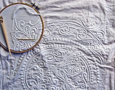 Boutis (back stitch) embroidery from Seams French