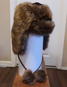 New Warm Faux Fur Women s Winter Hat w  Ear Flaps  amp  Pom Poms Aviator 5746ca16f5ca