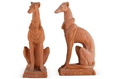 LOVE  Italian Terracotta Whippets, Pair on OneKingsLane.com