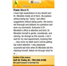 I have high expectations of any dentist and Dr. Morabito meets all of them. He explains...