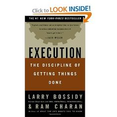Execution - The Discipline of Getting Things Done by Larry Bossidy & Ram Charan. The book that shows how to get the job done and deliver results . whether you're running an entire company or in your first management job. Reading Lists, Book Lists, Reading Club, Books To Read, My Books, Business Stories, Business Ideas, Critical Thinking, Getting Things Done