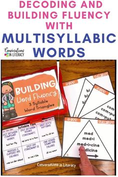 Decoding Multisyllabic Words - phonics word work activities. Phonics decoding activities & ideas for guided reading & reading interventions to build fluency! Teachers use these phonics activities to build up from word level to fluency with reading sentences. Great for struggling readers! #secondgrade #thirdgrade #conversationsinliteracy #phonics #fluency #comprehension #classroom #elementary #decoding #readinginterventions #guidedreading #sightwords 2nd grade, 3rd grade, 4th grade, 5th grade