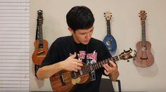awesome Крутая версия Thunderstruck на укулеле