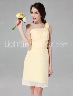 Yes! This is for my bridesmaid Sheath/ Column One Shoulder Knee-length Chiffon Satin Bridesmaid Dress