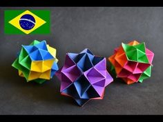 Origami: Spike Ball - Tutorial com voz PT BR - YouTube
