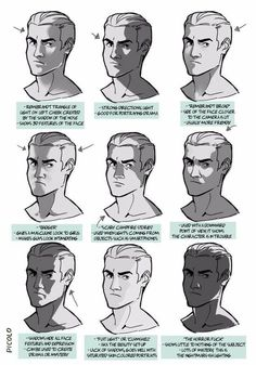 """""""I was studying portrait lighting and did some notes"""" Figure Drawing Reference, Art Reference Poses, Anatomy Reference, Drawing Lighting, Portrait Lighting, Drawing Techniques, Drawing Tips, Drawing Ideas, Shading Drawing"""