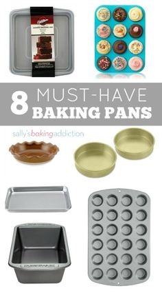 Welcome back to my baking basics series! As a sequel to my 14 kitchen tools every baker needs post, today I'm sharing the exact baking pans I use in my kitchen. These are baking pans that I find most useful, most versatile, and best quality for their pric Baking Tools, Baking Pans, Baking Utensils, Baking Supplies, Cake Baking, Kitchen Tools, Kitchen Gadgets, Cooking Gadgets, Kitchen Hacks
