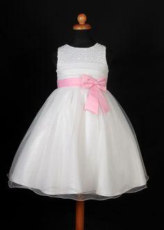 """Φορέματα για Παρανυφάκια - Επίσημα Φορέματα για Κορίτσια :: Καινούριο Σχέδιο 2015 Παιδικό Φόρεμα σε Ζαχαρί με Ρόζ για βάφτιση, Παρανυφάκι, Πάρτυ """"Emily"""" - http://www.memoirs.gr/"""