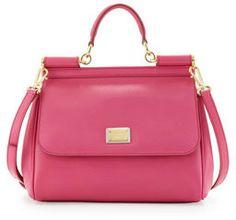 Dolce & Gabbana Miss Sicily Small Satchel Bag, Pink on shopstyle.com