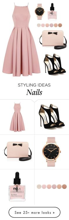 #53 Casually Lovely by jocelynleebold on Polyvore featuring Chi Chi, Kate Spade, ncLA and Deborah Lippmann