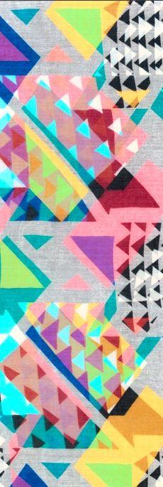 Geometric bright colors.