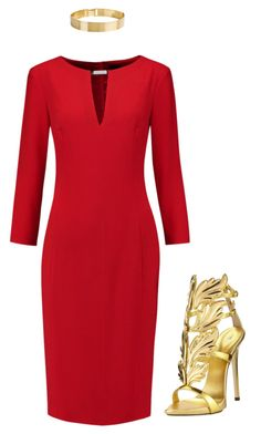 """""""Hear me roar {House Lannister}"""" by ariannastradlin ❤ liked on Polyvore featuring Joseph, Giuseppe Zanotti and Lele Sadoughi"""