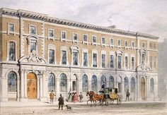 The New Building of Merchant Taylors and Hall, 1853 (w/c on paper) Wall Art & Canvas Prints by Thomas Hosmer Shepherd