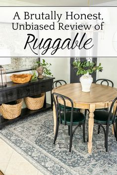 A brutally honest, unbiased review of Ruggable Rugs, its pros/cons to consider, if it's worth the money, and my top favorite styles.