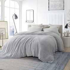 Rooms of patricinhas - Home Fashion Trend Oversized King Comforter, Grey Comforter Sets, Grey Bedding, Luxury Bedding, Bedding Sets, White And Gray Bedding, Twin Xl Bedding, Modern Bedroom, Bedroom Decor