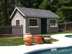pool shed. What if we reuse old house windows and make mullions?