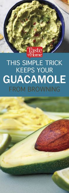 This Simple Trick Keeps Your Guacamole from Browning