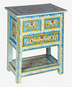 Love this Blue Hand-Painted Table on #zulily! #zulilyfinds