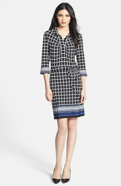 Laundry by Shelli Segal Print Jersey Shirtdress (Regular & Petite) available at #Nordstrom