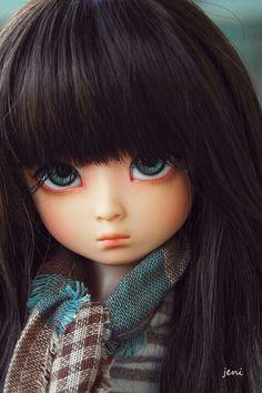 Miniature big blue eyes doll