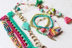 w o n d e r s t r u c k ~ inspiration, love the simple bead bracelet w/ colorful tassel