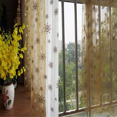 2015 New free shipping 140x280cm decorative organza yarn blinds Multi-function transparent valance curtain
