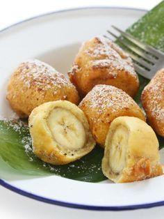 Beignets à la banane - Recette de cuisine Marmiton : une recette