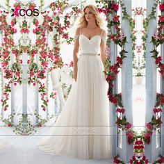 Find More Wedding Dresses Information about Bohemian Beach Wedding Dress Off the Shoulder Tulle White Ivory Low Back A Line Plus Size Bridal Gowns Beads 2016 Trouwjurk SA74,High Quality dress couture,China dress pants for juniors Suppliers, Cheap dress faviana from XCOS Wedding Dresses Co.,Ltd on Aliexpress.com