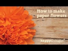 Simple crepe paper flower tutorial. These simple Mexican paper flowers can be used to decorate your party – arranged in vases, placed on your Ofrenda for Dia de los Muertos, or you could attach one to a bobby pin as a decorative hair piece! https://happythought.co.uk/day-of-the-dead/mexican-paper-flowers