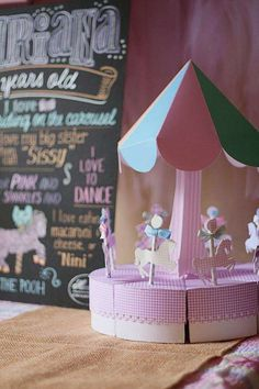 2nd birthday decorations girl | Carousel Horse Merry Go Round 2nd Birthday Girl Party Planning Ideas